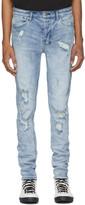 Ksubi Blue Van Winkle Trashed Dreams Jeans