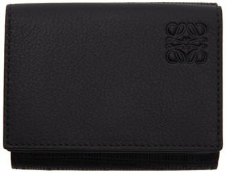 Loewe Black Linen Trifold Wallet