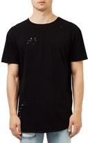 Topman Men's Ripped Longline T-Shirt