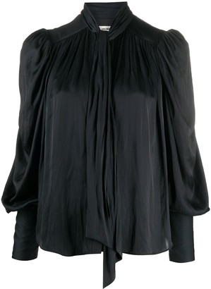 Zadig & Voltaire Tim satin pussy bow blouse