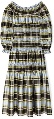 Tory Burch Corded Madras Dress