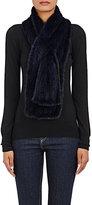 Barneys New York Women's Knitted-Mink Pull-Through Scarf-NAVY