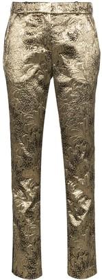 Faith Connexion brocade straight-leg trousers