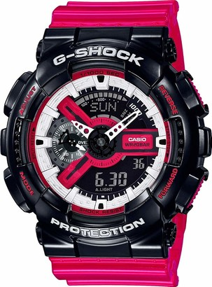 Casio Men's Analogue-Digital Quartz Watch with Resin Strap GA-110RB-1AER