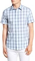 Ben Sherman Men's Mod Fit Ombre Plaid Shirt