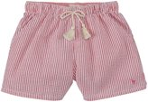 Pink Chicken Camp Shorts (Toddler/Kid) - Red/White Stripe-6 Years