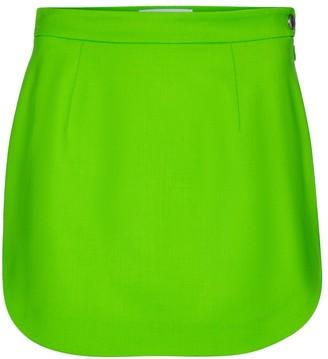 ATTICO Stretch-wool gabardine miniskirt