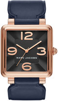 Marc Jacobs Women's Vic Navy Leather Strap Watch 34mm MJ1530