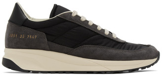 Common Projects Black and Grey Track Classic Low Sneakers