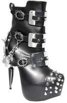 Athena Women's Hades Ankle Boot - Black Polyurethane Boots