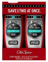 Old Spice Dirt Destroyer Pure Sport Plus Body Wash Twin Pack - 32oz