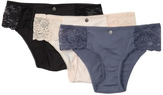 Jessica Simpson Ribbed Lace Hipster - Pack of 3