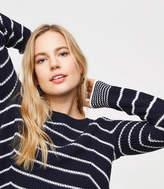 LOFT Stripe Mixed Rib Sweater