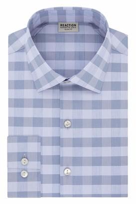 Kenneth Cole Reaction Men's Dress Shirt Slim Fit Technicole Stretch Check