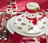 Pottery Barn Christmas Car Appetizer Plate, Set of 4