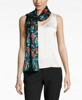 Echo Poppy Silk Oblong Scarf