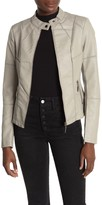 Lola Made In Italy Faux Leather Moto Jacket