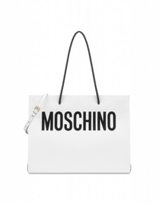 Moschino Shopper With Logo Woman White Size U It - (one Size Us)