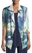 Christine Designs Gatsby Floral-Print Short Shawl Robe, Multi Pattern