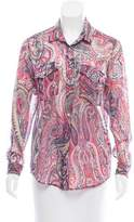 The Kooples Paisley Button-Up Top