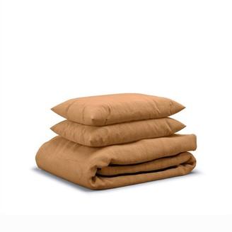 Flax Sleep Linen Duvet Set Clay, King