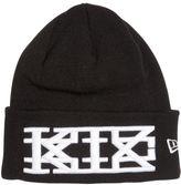 Kokon To Zai Embroidered Cotton Beanie Hat