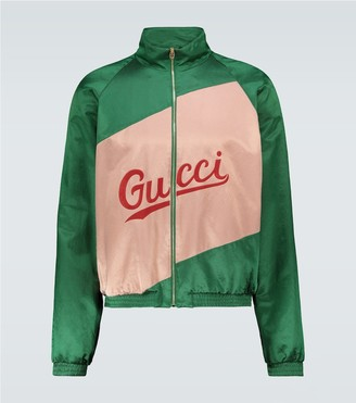Gucci Cotton viscose jacket with script