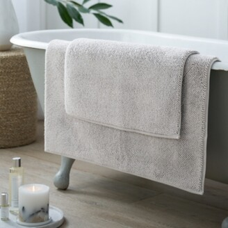 The White Company Ile de Re Bath Mat, Pearl Grey, Medium