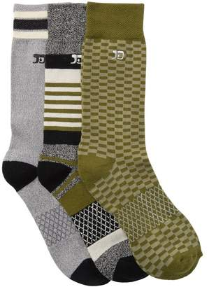 Joe's Jeans Kinetic Performance Crew Socks - Pack of 3