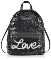 Love Moschino Women's Black Leather Backpack.