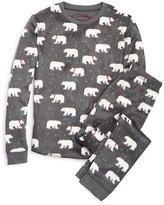 PJ Salvage Girls' Polar Bear Fleece Pajama Set - Little KidT