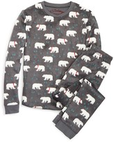 PJ Salvage Girls' Polar Bear Fleece Pajama Set - Sizes 4-6