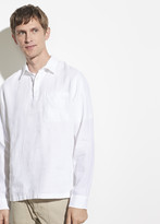 Long Sleeve Linen Polo