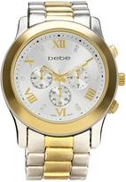 Bebe Two-Tone President-Link Bracelet Watch