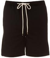 Fanmail Fleece-panel cotton shorts