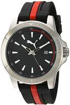 Puma Quartz Stainless Steel and Polyurethane Watch, Color:Two Tone (Model: PU911251001)