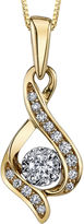 Sirena FINE JEWELRY 1/7 CT. Diamond 10K Yellow Gold Infinity Pendant Necklace