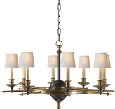 E.F. Chapman LEAF AND ARROW CHANDELIER