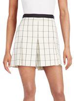 Proenza Schouler Pleated Windowpane Shorts