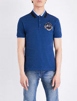 Givenchy Monkey patch-detailed cotton-piqué polo shirt