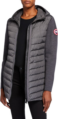 Canada Goose Hybridge Knit Hooded Coat