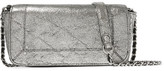 Jerome Dreyfuss Bob Metallic Textured-leather Shoulder Bag - Silver