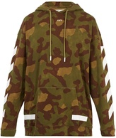 Off-White Camouflage-print hooded cotton sweatshirt