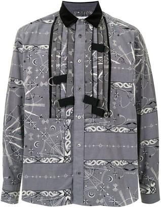 Sacai Strap Detailing Bandana Print Shirt