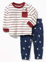 Old Navy Penguin-Graphic Sweatshirt & Pants Set for Baby
