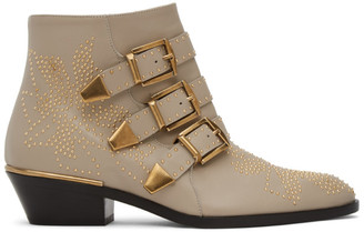 Chloé Grey Susan Ankle Boots