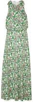 Dodo Bar Or - Crystal-embellished Ruffled Floral-print Crepe Maxi Dress - White
