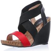 LALA IKAI Womens Summer Wedges Sandals Across The Top Platform High Heels (US 8, )