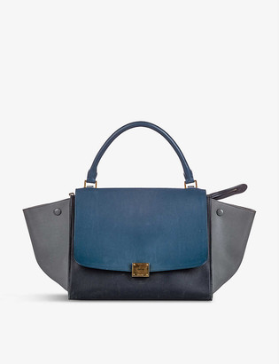 Resellfridges Pre-loved Celine Trapeze suede satchel bag