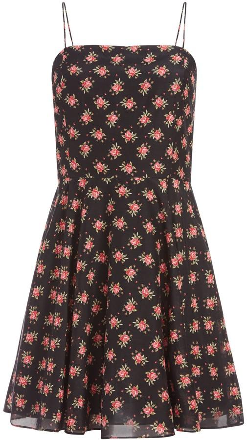 Alice + Olivia Glinda Floral Mini Dress
